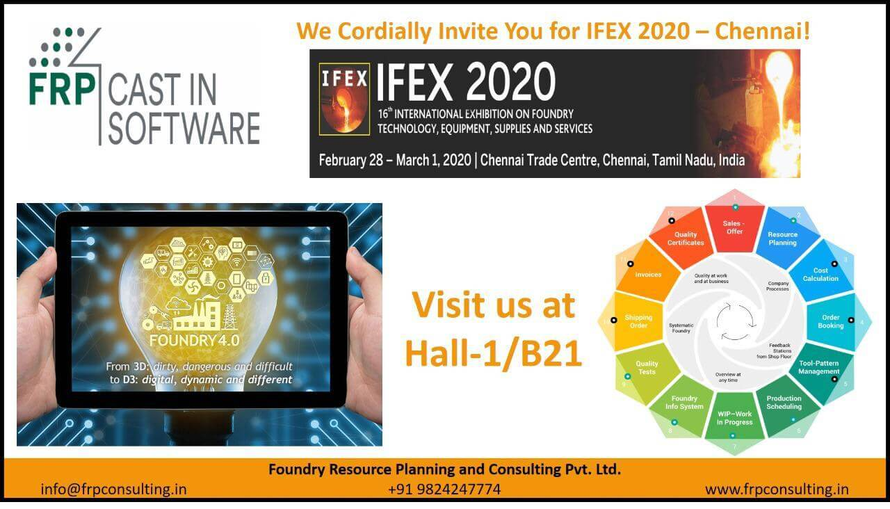 IFEX 2020 – Another milestone in the quest of digital transformation of metal casting operations