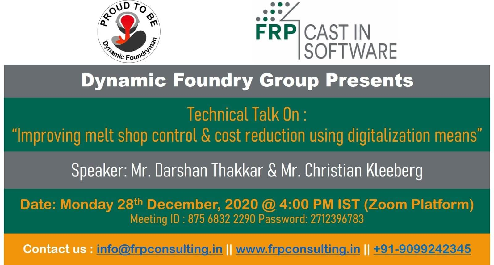 YOU missed the webinar organised by DFG and FRPCON ?